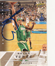 RAJON RONDO BOSTON CELTICS SIGNED CARD KENTUCKY WILDCATS DALLAS MAVERICKS