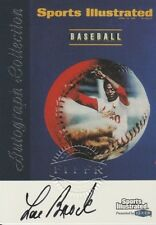 Lou Brock 1999 Fleer Sports Illustrated Collection autograph auto card