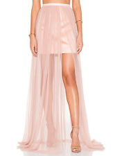 Keepsake White Lies Pink Blush Satin Tulle Maxi Mini Skirt Wedding 6 8 10 12
