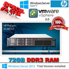 HP Proliant DL380 G7 2x 2.53Ghz Hex Core E5649 Xeon 72GB DDR3 RAM P410i/512MB $%