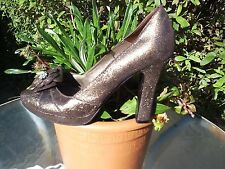 STAR JULIEN MACDONALD GOLD CRACKED LEATHER PARTY SHOES SIZE 7