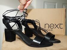 Next black leather sandals/ shoes uk 6.5/ eur 40 new with box RRP £48.00