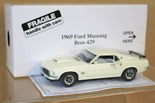 DANBURY MINT 1/24 1969 FORD MUSTANG FASTBACK BOSS 429 WIMBLEDON WHITE MIB ni