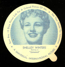 1952 DIXIE CUP NELSON'S ICE CREAM SHELLEY WINTERS TV MOVIE STAR NM FREE SHIP USA