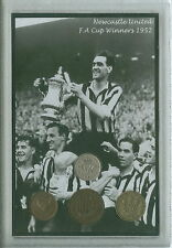 Newcastle United FC The Magpies Vintage F.A Cup Final Winners Coin Gift Set 1952