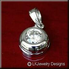 1.00 CT FOREVER CLASSIC MOISSANITE ROUND BEZEL SOLITAIRE JENNY PENDANT