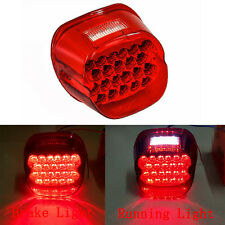 New Crystal Red Lens Tail Rear LED Light Brake For Motorcycle Harley Davidson