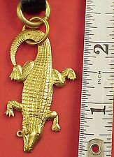 Vintage 2 inch Swamp Alligator Gator Pocket Watch Fob Key Chain Altered Art