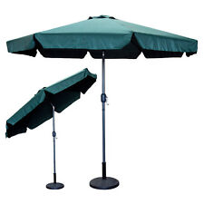 9 Feet FT Outdoor Patio Umbrella Green Crank Market Aluminium Pool Yard