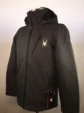 Spyder XLT Route Jacket Gray Thinsolate Hooded Ski Jacket Mens Small NWT