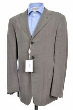 NWT - ARMANI COLLEZIONI Gray Lightweight Linen Sport Coat Jacket Blazer Mens 40