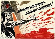Russia Propaganda Machinery Large poster world war 2 WW2