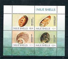 Niue 2012 Shells 4v MS MNH