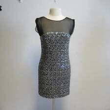 BLUGIRL BLUMARINE Sheer Top Silver Sequin Dress 42/6 LOVE IT!!