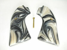 Silver & White Pearl Ruger Bisley Vaquero Grips