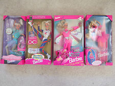 Lot 4 Barbie Olympic Gymnast Skater Flying Hero Twirling Ballerina NIB Vintage