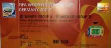 Germany Japan FIFA 2011 Womens World Cup July 9th Ticket Karte