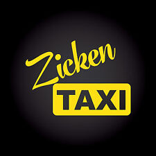 Zickentaxi Zicke taxi auto pegatinas sticker decal JDM OEM style 13,5 x 9,6 cm