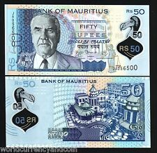 MAURITIUS 50 RUPEES 2013 1st PFX POLYMER UNC PATURAU JUSTICE CURRENCY MONEY NOTE