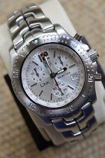 Tag Heuer NEW Watch Mens CT1116.BA0550 NWT Jason Bourne Link SILVER CHRONOGRAPH