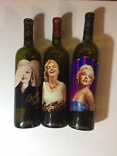 Lot of 3 Vintage 2002 2003 2004 Marilyn Monroe Merlot EMPTY WINE BOTTLES