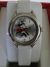 New Disney Minnie Mouse NURSE White Band Watch. New/box/warranty + Free gift