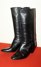 RUSSELL & BROMLEY UK 7 EU 40.5 ITALIAN SOFT LEATHER PULL ON MID HEEL BOOTS