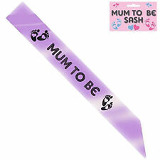 BABY SHOWER SASH MUM TO BE SASH PARTY GIFT RIBBON ACCESSORY SASH