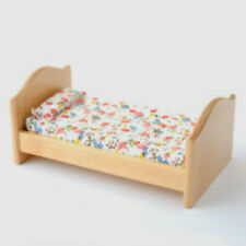 Dolls House Furniture:  Childs Wooden Bed    : 12th scale