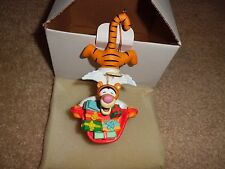 DISNEY DCA GROLIER Tiger Angel Bag of Presents Christmas Magic Holiday Ornament