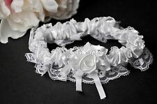 New Stain & Lace White Bride's Wedding Bridal Garter Toss