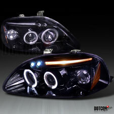 96-98 Civic Halo LED Projector Headlights Glossy Black