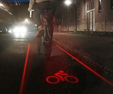 Led laser Lane bike light vélo sécurité nuit haute visibilité cycle projection