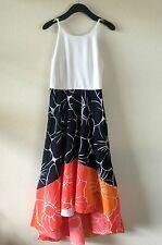 NEW $168 Anthropologie HUTCH Peachy High-Low Dress M 6 8 Floral flow Coral Navy