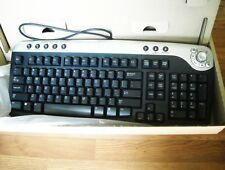 NEW IN BOX! DELL PS/2 Multimedia Black Silver Keyboard 02R400 RT7D30