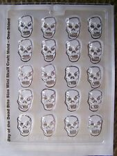 Day of the Dead Bite Size Mini Flat Back Sugar Skull Chocolate Candy Mold 20 Ct