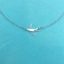 Stunning Swallow Bird Silver Necklace.