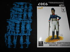 HAT #9307, 1/32 SCALE NAPOLEONIC WURTTEMBERG INFANTRY COMMAND PLASTIC FIGURE KIT