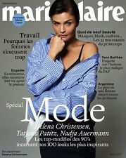 MARIE CLAIRE French Mars 2017 - Helena Christensen Beauté Mode Fashion