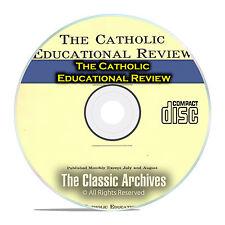 The Catholic Educational Review, by Catholic University, Vintage, PDF CD DVD E49
