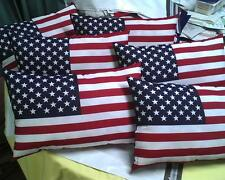 "Patriotic American Flag Pillow Red,Wht,Blue 11"" x 17""~~ USA 4th of July!!!"