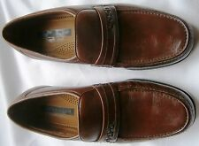 BRAND NEW Florsheim Comfortech Tan LEATHER Loafer Dress Shoes Mens 9 1/2 Me