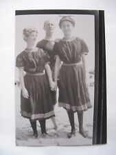 Early negative & photo Ladies & Man at the Beach Old bathing suits