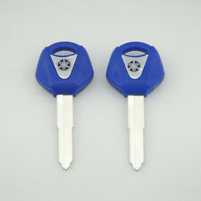 2 pcs Blue Blank Key Uncut for Yamaha YZF R1 R6 FZ1 FZ6 600R XJR1300 Motorcycle