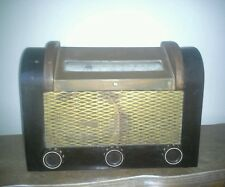 VERY NICE Rare1940'S VINTAGE Federal Model 1032T WOODEN TUBE RADIO WORKs Great!