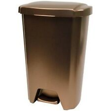 Plastic Trash Can Garbage Waste Bin Kitchen Basket 13 Gallon Step On Container