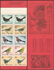 Sweden 1970 Christmas/Greetings/Blue Tit/Blackbird/Birds/nature  10v bklt b6820f