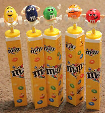 Lot of 5 European M&M'S toppers on springs with candies Set candy toppers NEW