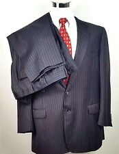 Corneliani Italy Mens Two Button Suit 46 R 40 x 31 Three Inch Hem Super 120s