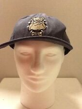 Vintage 90s No Fear Baseball Hat Cap Snapback Made in USA blue bulldog logo